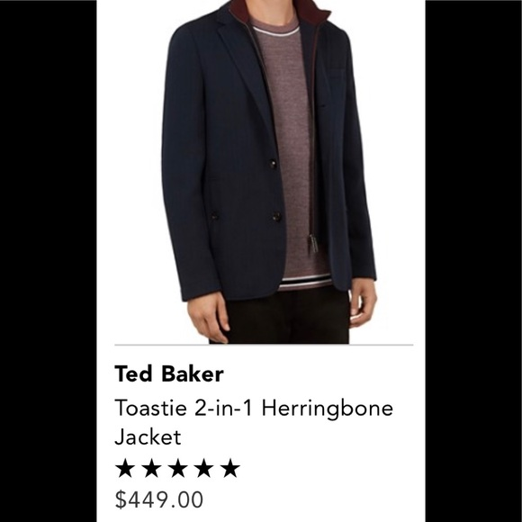34182a73eeee9 Men s Ted Baker Tootsie 2-in-1 Herringbone Jacket